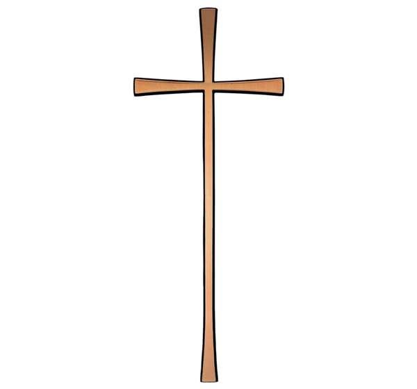 cruz-bronce-lisa
